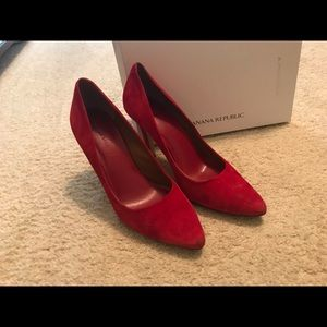 Banana Republic Red suede shoes